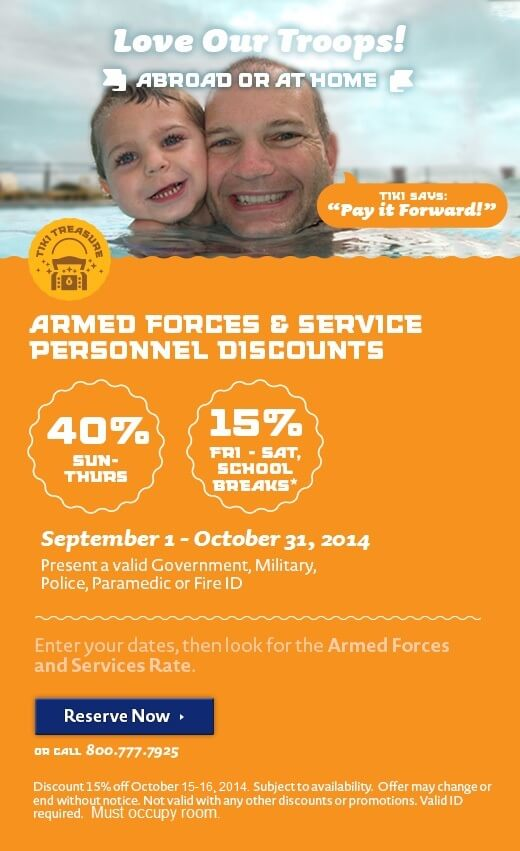 Armed Forces & Service Personnel Discount - Love Our Troops!