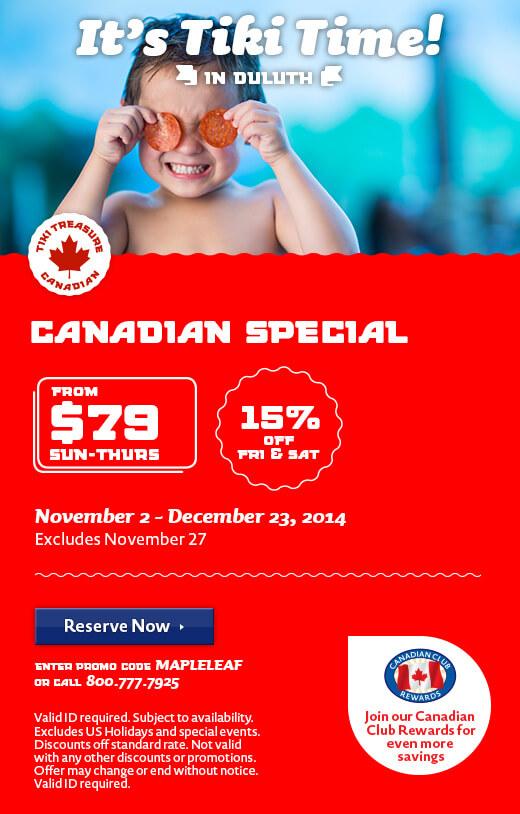 Exclusive Canadian Deals - Winter