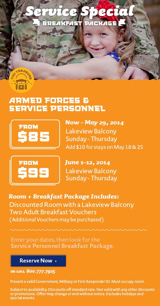 Service Personnel Breakfast Package