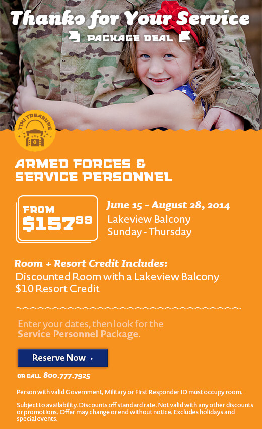 Thanks for Your Service Resort Credit Package - Summer