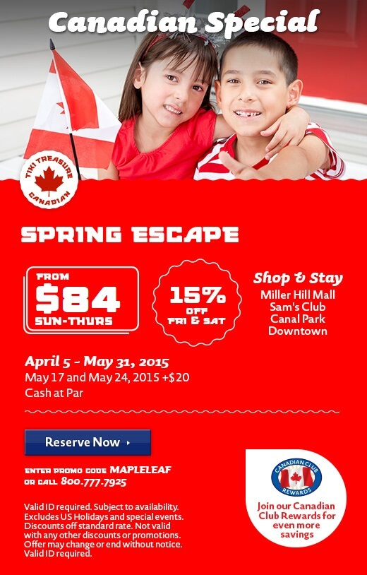 Spring Escape Canadian Discounts