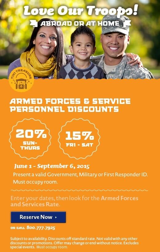 Armed Forces & First Responders Discount – Summer