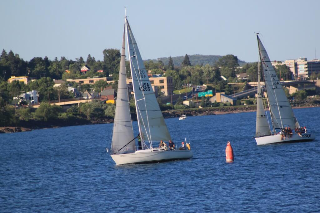 Sail Boat Races in front of Edge