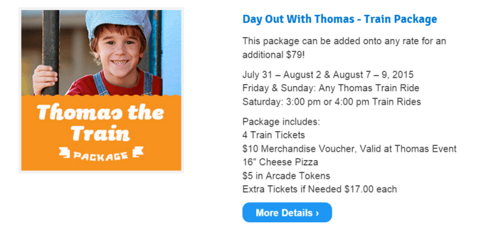 Day Out With Thomas Package