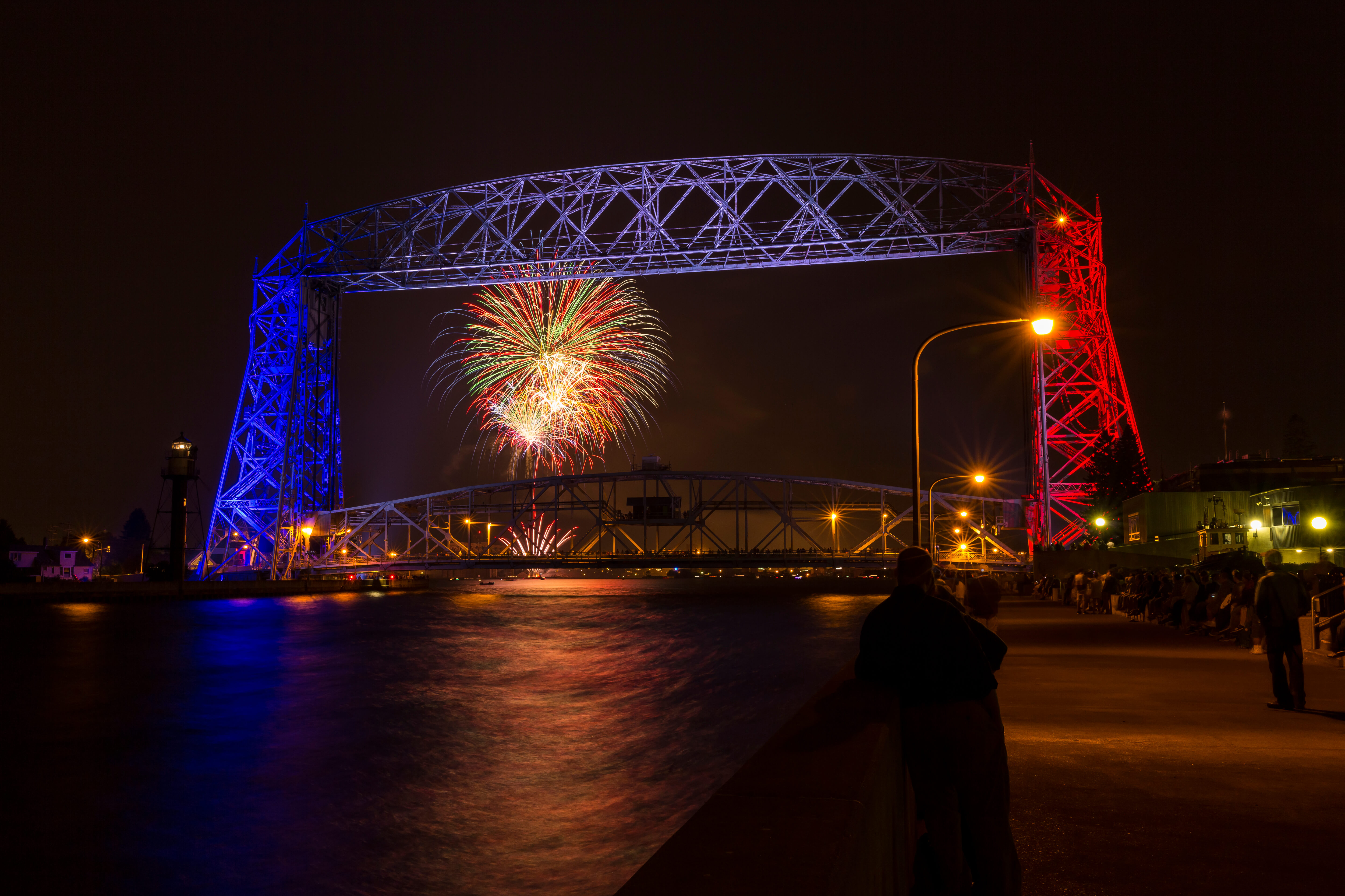 Duluth MN Fireworks at Fourth Fest near the Edgewater Hotel & Waterpark