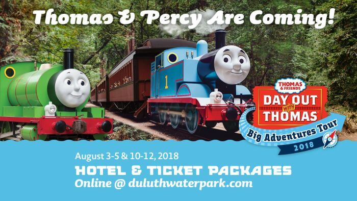 Edgewater Hotel Train Package - Thomas and Percy in Duluth MN